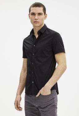 חולצה מכופתרת קצרה slim