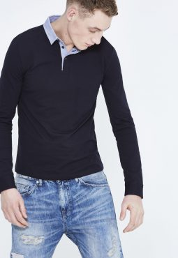 חולצת פולו שרוול ארוך SLIM
