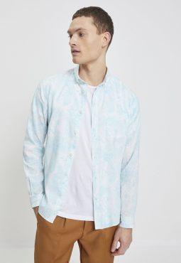 חולצה מכופתרת בהדפס פרחוני