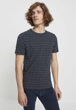 חולצת טי פסים צווארון עגול