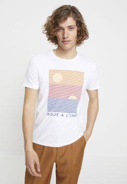 חולצת טי קצרה עם הדפס