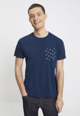 חולצת טי 100% כותנה הדפס כיס