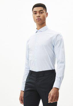 חולצה מכופתרת נקודות גזרה צרה