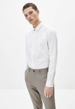 חולצה מכופתרת בגזרת רגולר 100% כותנה
