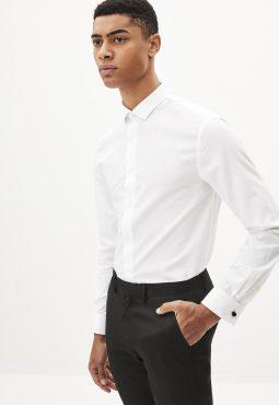חולצה מכופתרת בגזרה צרה 100% כותנה - אל-קמט