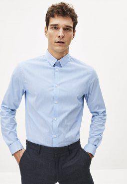 חולצה מכופתרת צווארון צרפתי