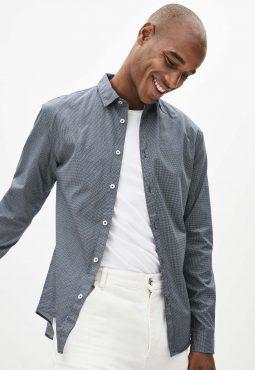 חולצה מכופתרת 100% כותנה slim fit