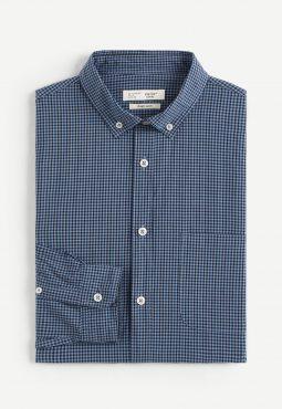 חולצה מכופתרת 100% כותנה regular fit
