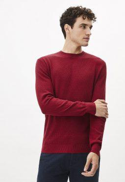 סוודר צווארון עגול 100% כותנה