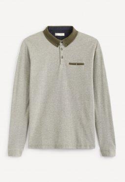חולצת פולו שרוול ארוך 100% כותנה