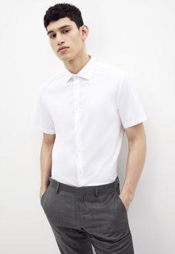 חולצה מכופתרת דוחה כתמים, גזרה רגילה