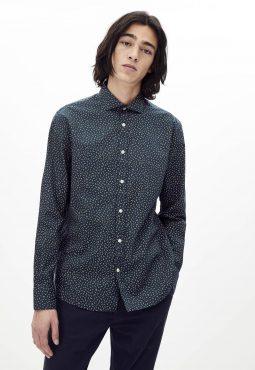 חולצה מכופתרת בגזרה רגילה, 100% כותנה