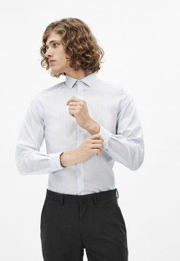 חולצה מכופתרת אלגנט בגזרה צרה, Coolmax