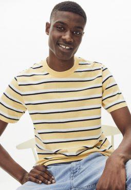חולצת טי פסים, 100% כותנה