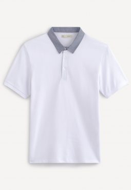 חולצת פולו צווארון קונטרסטי