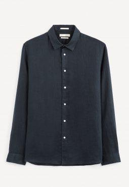חולצה מכופתרת 100% פשתן, גזרת Regular