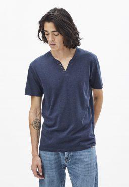 חולצת טי צווארון טוניסאי 100% כותנה