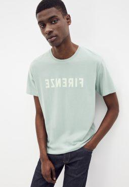 חולצת טי פירנצה, צווארון עגול, 100% כותנה