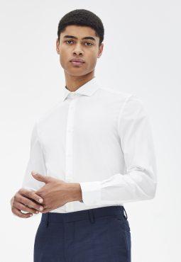 חולצה מכופתרת שרוול ארוך, 100% כותנה