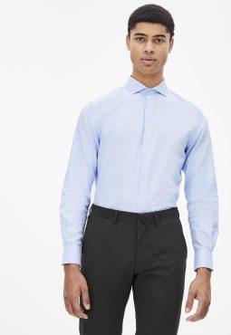 חולצה מכופתרת 100% כותנה, גזרה רגילה