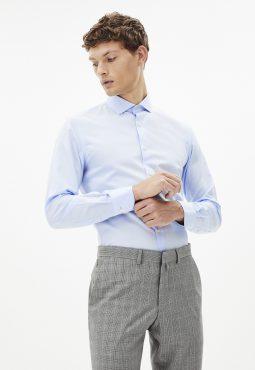 חולצה מכופתרת 100% כותנה, גזרה צרה