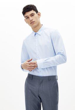 חולצה מכופתרת 100% כותנה, גזרה סלים