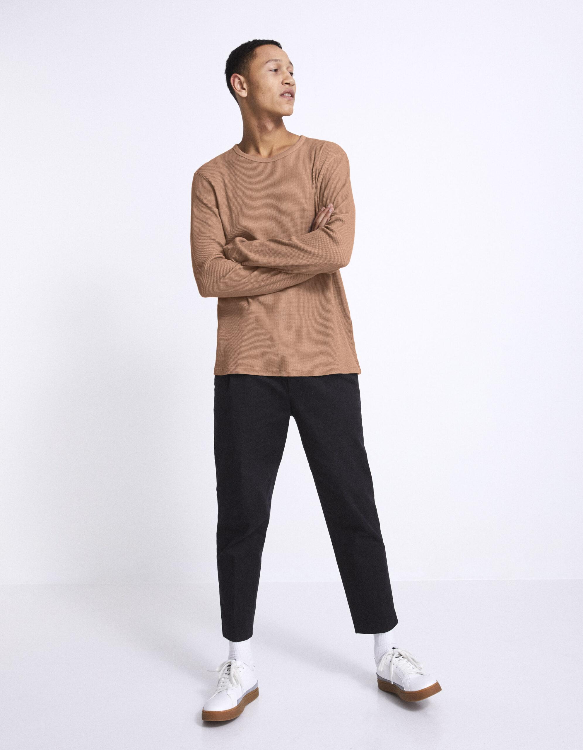 חולצת טי שרוול ארוך, 100% כותנה