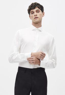 חולצת צווארון חתוך 100% כותנה