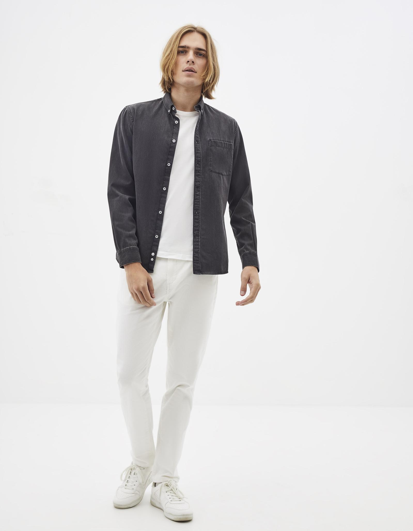 חולצת ג'ינס דקה 100% כותנה