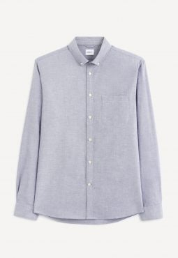 חולצה מכופתרת גזרה רגילה 100% כותנה