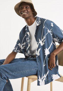 חולצת הדפס גזרת הוואי