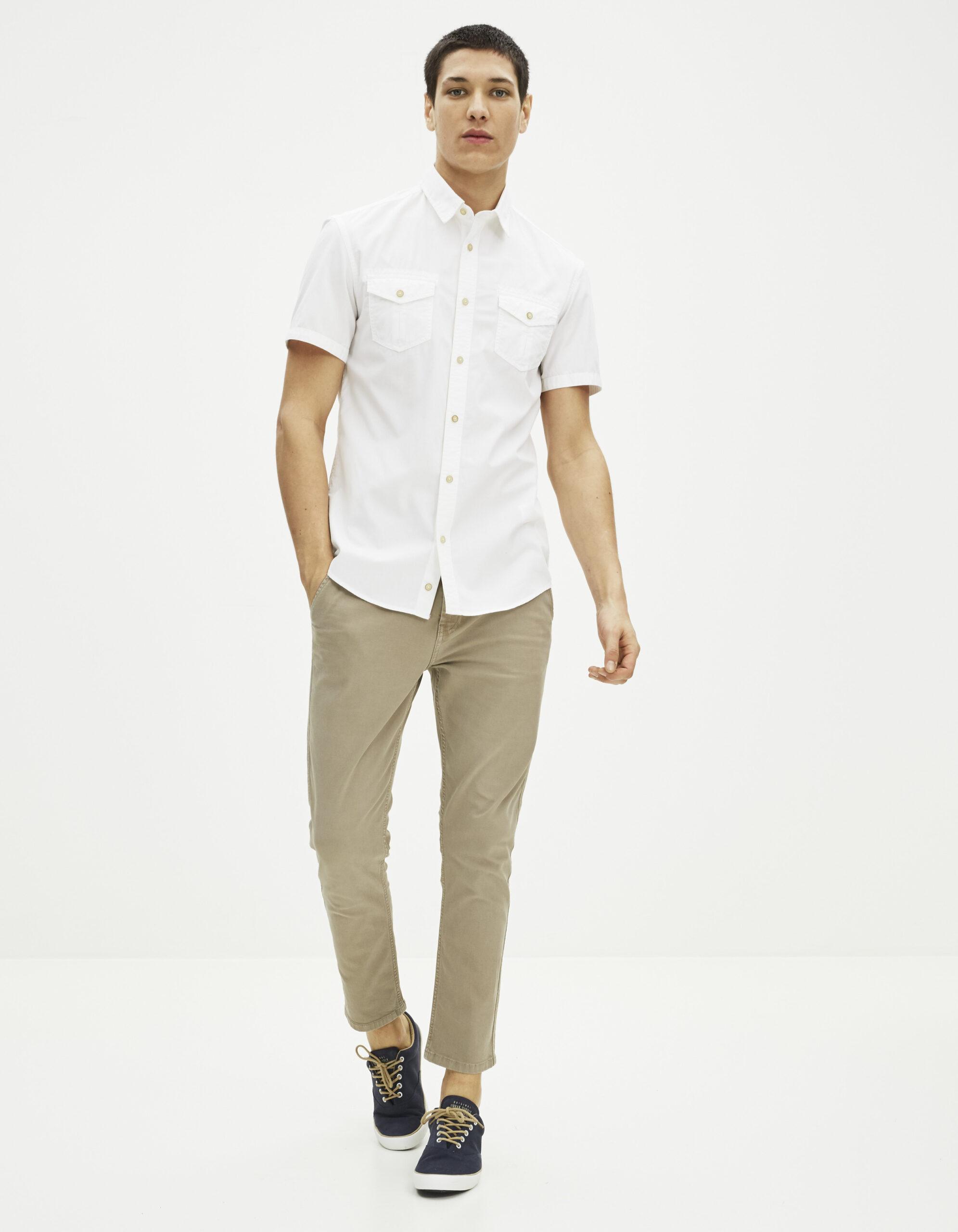 חולצה מכופתרת קצרה