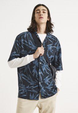 חולצה מכופתרת הדפס הוואי