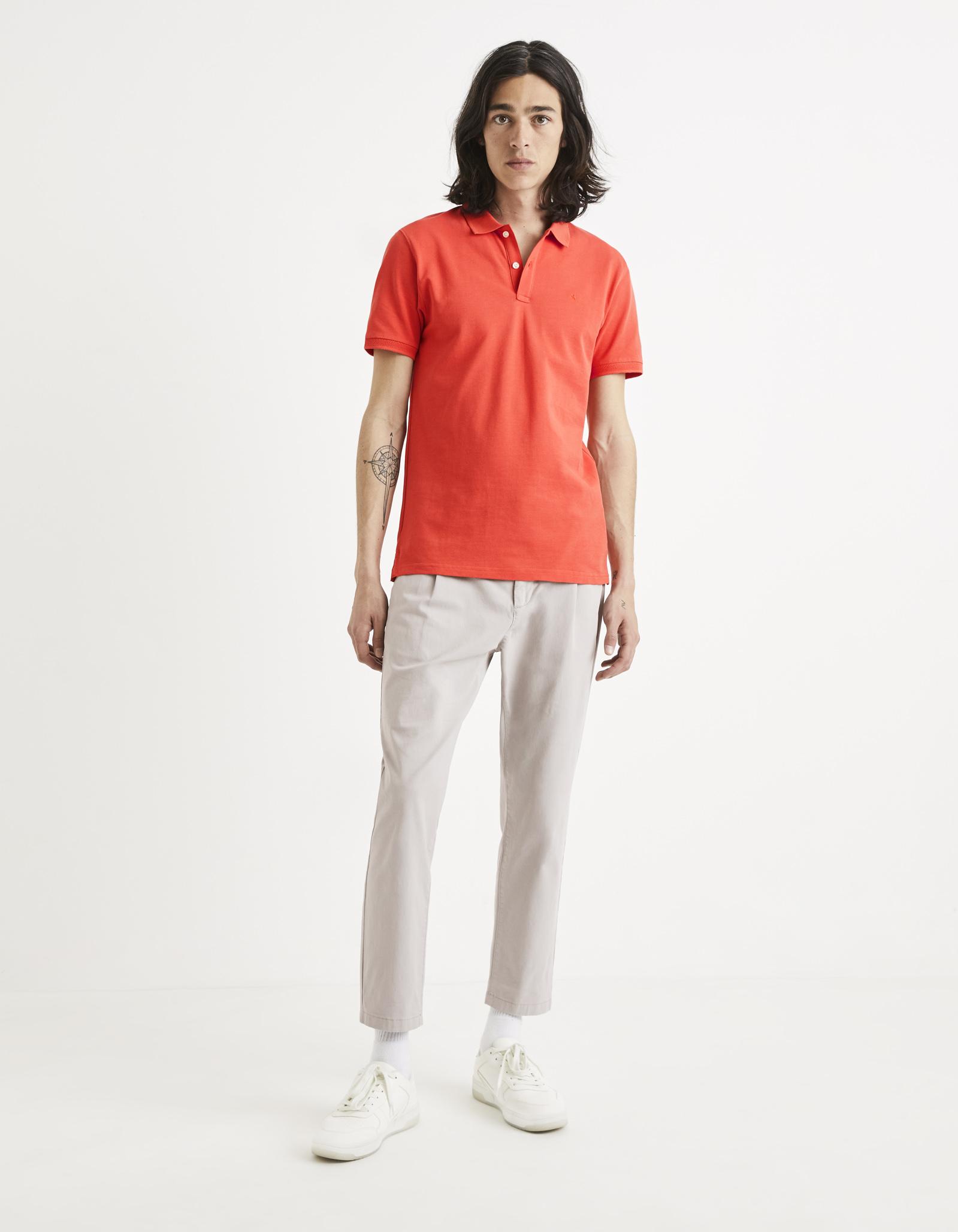 חולצת פולו קלאסית 100% כותנה