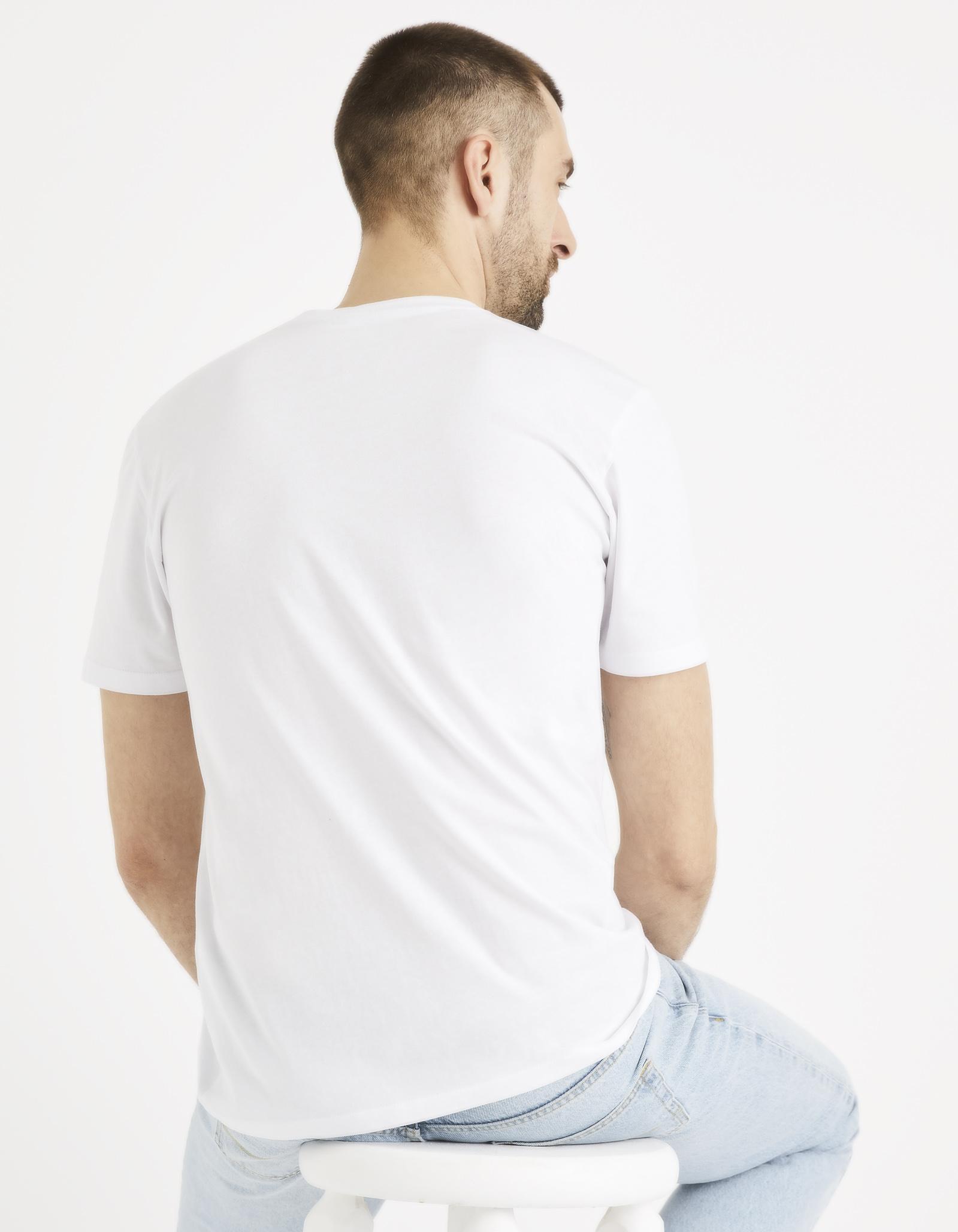 חולצת טי הדפס צווארון עגול