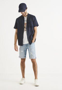 ברמודה ג'ינס עם קרעים