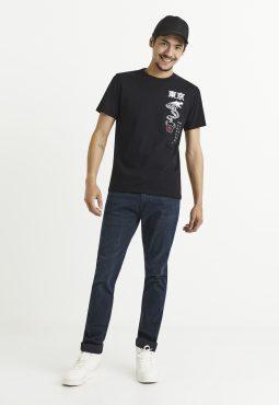 חולצת טי הדפס דרקון