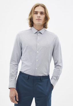 חולצה מכופתרת ארוכה ג'ירסי