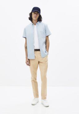 חולצת ג'ינס מכופתרת קצרה