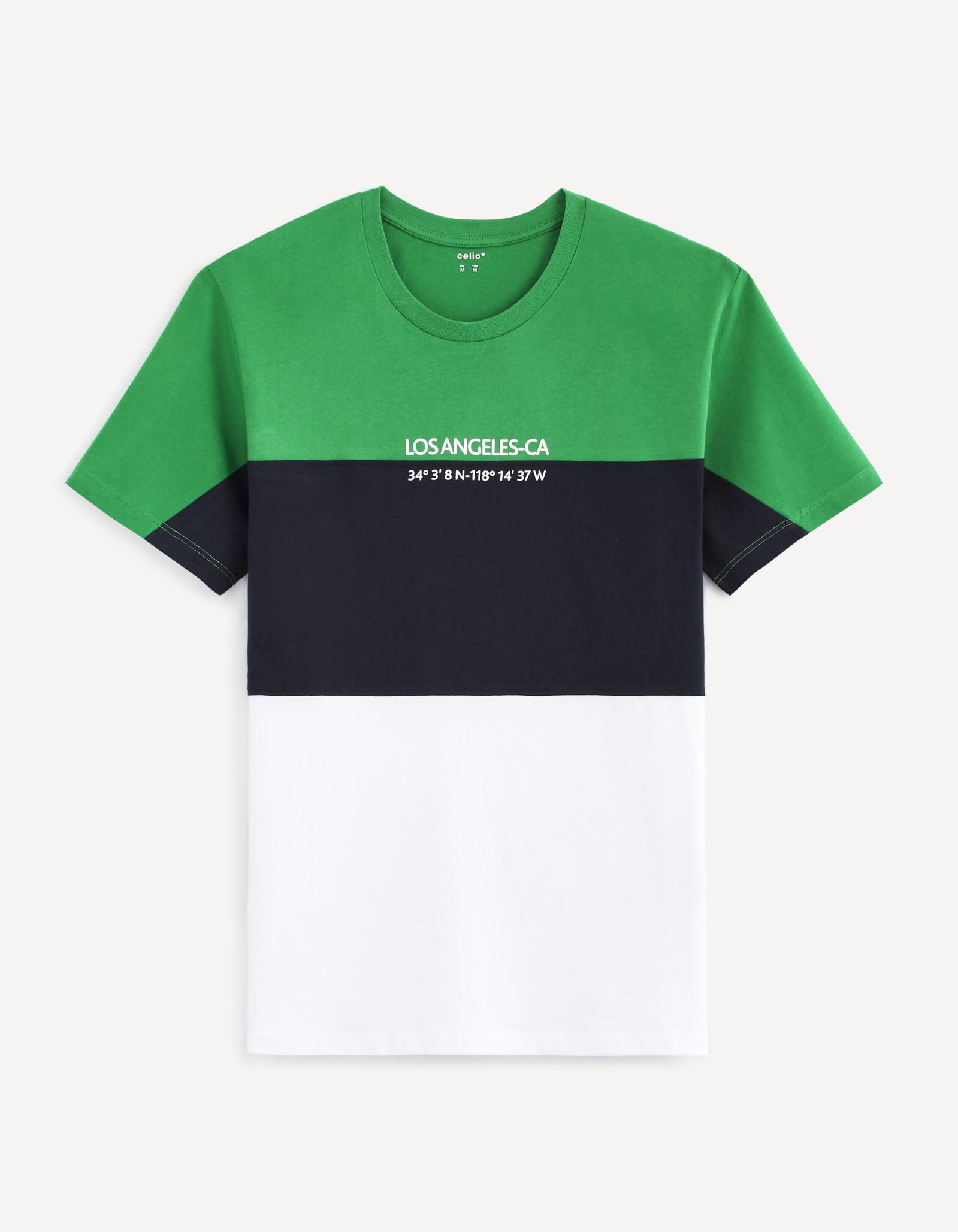 חולצת טי שילוב פסים
